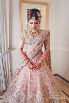 Indian Bridal Outfits, Indian Bridal Fashion, Indian Bridal Wear, Indian Designer Outfits, Bride Reception Dresses, Wedding Dresses For Girls, Bridal Dresses, Latest Bridal Lehenga Designs, Wedding Lehenga Designs