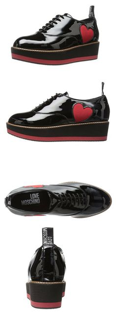309c8595a85 Love Moschino Women s Patent Heart Loafer Fashion Sneaker