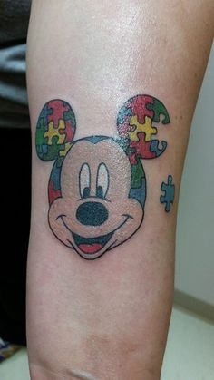 Mickey Mouse Autism Tattoo > Heather M Fox