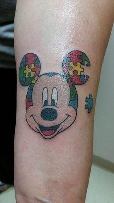 Mickey Mouse Autism Tattoo > Heather M Fox