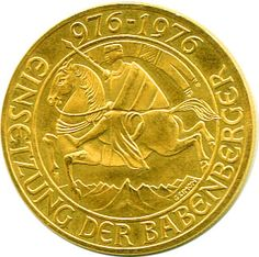 Austria 1000 S gold coin 1976
