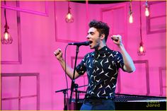 Nathan Sykes no People Now Concert Series em Nova York, nos Estados Unidos. (28 jul.)