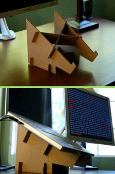 Are you struggling in finding ideas to build your own DIY computer desk? Well, if you find this article, you're in luck! Because we have compiled a list of 21 DIY computer desk ideas with plans from around the web for you. Table Top Covers, Build Your Own Computer, Gaming Computer Desk, Gaming Setup, Dream Desk, Small Home Offices, Diy Cardboard, Cardboard Furniture, Metal Bar Stools