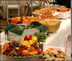 Food buffet from Callier's Catering.