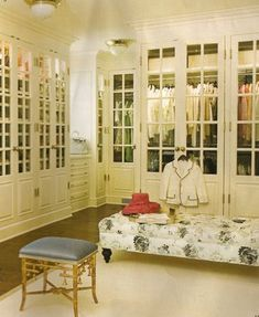 Large Walk-In Closet w/ glass doors Designs   Fabulous Dressing Rooms and Closets
