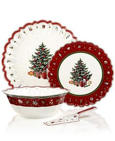 I WILL have a gorgeous set of Christmas China Villeroy & Boch Dinnerware, Toy's Delight Collection - Fine China Christmas China, Christmas Dishes, Christmas Tea, Christmas Kitchen, All Things Christmas, Christmas Table Settings, Christmas Tablescapes, Christmas Decorations, Holiday Decor