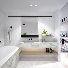 Bathroom inspo OR Bathroom envy? I think I've got both with this beautiful bathroom at Maple Apartments. Completion early 2017!  #thefigureheaddifference @ourangle #icdproperty #stokesarchitecture #maplehawthorn #bathroominspo #bathroomenvy #interiordesign #melbournearchitecture #bathroomdesign