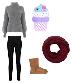 """It's snowing"" by jpchahal ❤ liked on Polyvore featuring Warehouse, J Brand and UGG"
