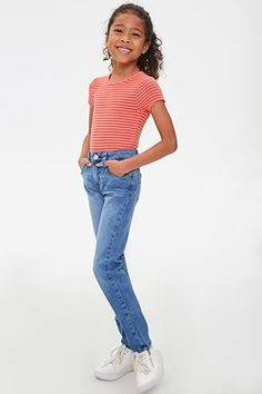 Product Name:Girls Skinny Jeans (Kids), Category:Sale, Girls Fall Outfits, Indie Outfits, Cute Girl Outfits, Cute Outfits For Kids, Cute Outfits With Jeans, Cute Comfy Outfits, Cute Jeans, Mom Jeans, Forever 21 Outfits