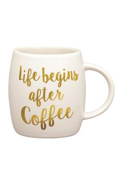 Carson Life Coffee Mug Life really does begin after a cup of Joe https://api.shopstyle.com/action/apiVisitRetailer?id=528942865&pid=uid4100-37917210-20