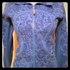 Lululemon blue jacket Heavyweight jacket with hoodie. Two tone pretty blue. Two side pockets. In very good condition. lululemon athletica Jackets & Coats