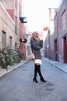 Silk Shirtdress + Chunky Knit Sweater | MEMORANDUM | NYC Fashion & Lifestyle Blog for the Working Girl