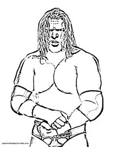 20 Best Wrestling Color Pages Images Wwe Birthday Coloring Pages