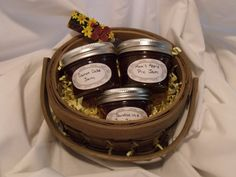 """The order of the types of jam in the story: apricot, grape, peach, plumb, quince, and  crabapple   The practical Birthday gift seems like it has no hidden meaning behind it, but the types of jam inside the basket represent the progression of their son's illness. tarts off sweet, and slowly goes bitter. The parents were under the impression the son was """"prodigiously gifted child"""" at first."""