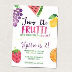 Fruit birthday party Twotti Frutti 2nd by saralukecreative on Etsy