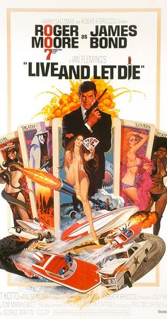 Original 1 sheet (Western Hemisphere style) Movie Poster starring Roger Moore as James Bond, Yaphet Kotto amd Jane Seymour. Produced by Albert Broccoli and Harry Satzman and directed by Guy Hamilton this was Roger Moore's first take at James Bond and it w Linda Mccartney, Paul Mccartney And Wings, Roger Moore, James Moore, James Bond Movie Posters, James Bond Movies, Cinema Posters, Movie Poster Art, Music Posters