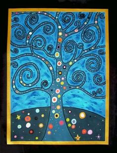 Gustav Klimt Representational Peinture Tree of life Gustav Klimt, Square One Art, Dreams Catcher, Tree Watercolor Painting, Tree Of Life Art, Fall Art Projects, Tree Canvas, Collaborative Art, Art Party