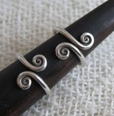 Sterling Silver Spirals Ring Adjustable Versatile ring Can Bangle Bracelets, Bangles, Etsy Jewelry, Unique Jewelry, Thumb Rings, Knuckle Rings, Wire Rings, Spirals, Sterling Silver Jewelry