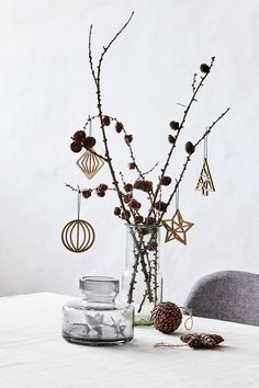 Awesome Wooden ornaments // A natural touch for the tree. // Available in four designs. // Home decorations for Christmas Price per item The post Wooden ornaments // A natura . Christmas On A Budget, Christmas Mood, Noel Christmas, Christmas Crafts, Home Decor For Christmas, Christmas Tables, Elegant Christmas, Modern Christmas, Holiday Ornaments