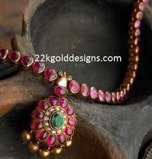 Indian Jewelry and Clothing: Elegant temple ruby jewelry from Arnav jewelers. Ruby Jewelry, Wedding Jewelry, Gold Jewelry, Ruby Necklace, Tiffany Jewelry, Teardrop Necklace, Birthstone Necklace, Glass Jewelry, Style Boho