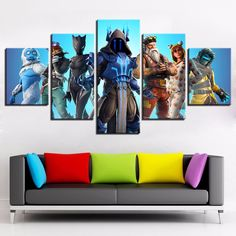 """12/""""x12/"""" Monkey Kings White Painting HD Print on Canvas Home Decor Room Wall Art"""