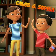 Caleb & Sophia. You can find this cute pair on JW.org where they help kids to learn important lessons in life.