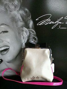 $1 Auction Jessica Simpson Alma Creme Hot Pink Crossbody Bag Clutch   eBay