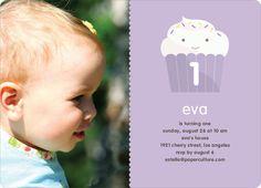 Cupcake Birthday Party Photo Invitation