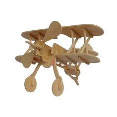 Biplane----Aeroplanes models puzzle games for kids&adults brain teaser, present
