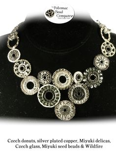 Circular brick stitch necklace from The Potomac Bead Company  http://www.potomacbeads.com