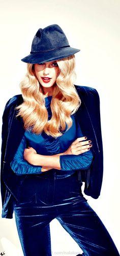 5eb106f7ffc80 Rainbow Bright Colors   karen cox. Cosmopolitan Australia bright cobalt  blue Blue Velvet Suit