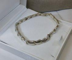 Armband Gliederarmband 60er Jahre Silber 925 SA300 von Schmuckbaron
