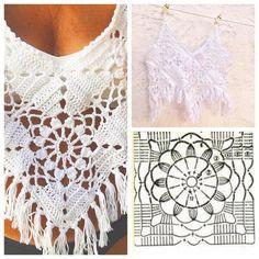 Crochet Boho Dress, Summer Dress, Beach Dress, Bikini cove The sun is high and the lemonade is sweet. It's summer, baby! And the crochet just won't st. Poncho Au Crochet, Pull Crochet, Crochet Diy, Crochet Motifs, Crochet Woman, Crochet Blouse, Crochet Chart, Crochet Stitches, Crochet Patterns