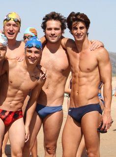 Hot bunch of sexy guys Beach Boy, Men Beach, Men's Swimsuits, Boys Swimwear, Guys In Speedos, Speedo Boy, Hot Hunks, Bikini, Male Physique