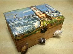 decoupage, sea