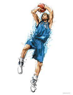 NBA Illustrations 2nd set on Behance