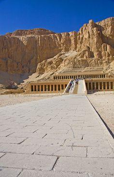 Hapshetsut's Mortuary Temple, Deir el-Bahari, Luxor, Egypt.