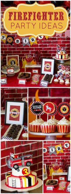 You won't believe the awesome details at this firetruck party!  See more party ideas at CatchMyParty.com!