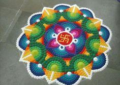 rangoli designs ganesh how to draw easy rangoli patterns rangoli designs. Easy Rangoli Patterns, Rangoli Colours, Rangoli Ideas, Colorful Rangoli Designs, Rangoli Designs Diwali, Diwali Rangoli, Beautiful Rangoli Designs, Kolam Designs, Diwali Diy