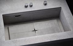 Masculine Kitchen Furniture Design Of Concrete And Dark Wood | DigsDigs