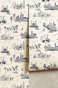 #anthrofave Rifle Paper Co. Cities Toile Wallpaper