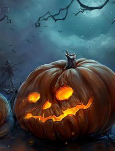 Halloween Wallpaper scary pumpkin carves for halloween background .