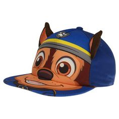 Character Flat Peak Cap Paw Patrol Chase Dog with Ears Character Flat, Character Design, Peaked Cap, Paw Patrol, Caps Hats, Kids Outfits, Infant, Fashion Accessories, Flats