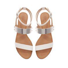 Metallic Plate Flat Sandal from Zara [on sale for $29]