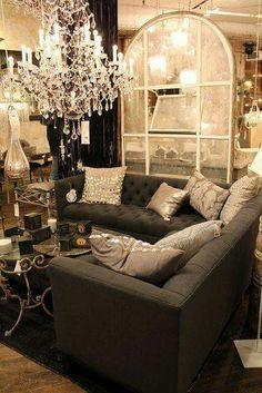 Black coffee table. Color Scheme. (Black, white, purple, beige ...