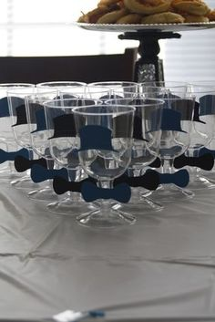 bow ties for wine glasses (if bow ties fit into theme)