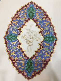 Islamic Art Pattern, Arabic Pattern, Pattern Art, Illumination Art, Iranian Art, Arabic Art, Islamic Art Calligraphy, Ceramic Jewelry, Damask