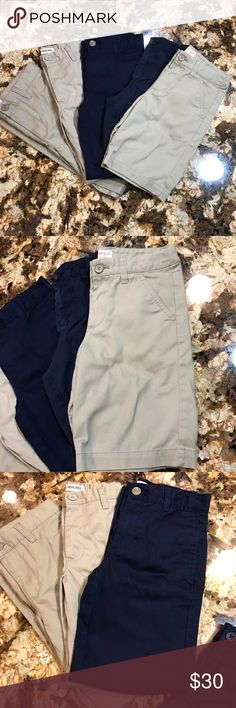 5pc Boys Pants/Shorts Bundle EUC and some possibly still new without tags khaki/Navy pants/shorts. Various brands. Open to reasonable offers! Reasonable is. It half of asking price, please remember Posh takes 20%. Bundle for private discount and lower shipping! Bottoms