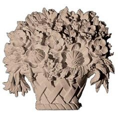 """CP-145 - 4 5/8""""W x 5""""H x 1 3/8""""D Floral Basket Center, Resin - Pacific Columns, Inc. (800) 294-1098"""