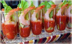 Shrimp Shooters - prefect way to serve cocktail shrimp during cocktail hour!